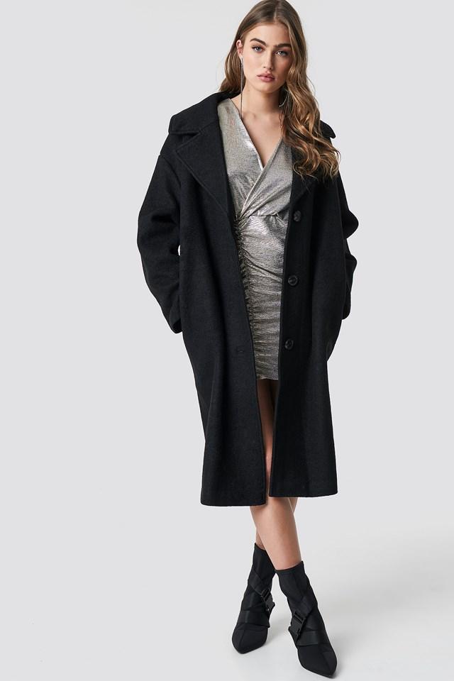 Oversized Wool Blend Coat NA-KD.COM