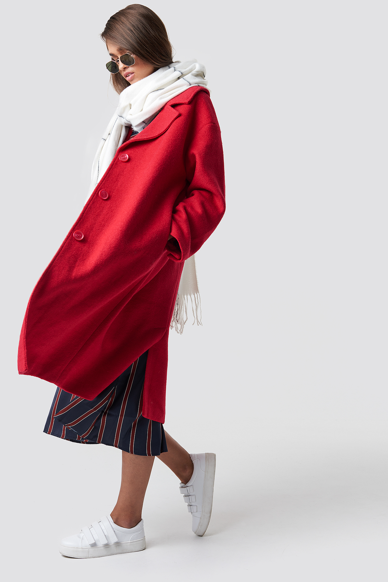 Oversized Wool Blend Coat NA-KD.COM