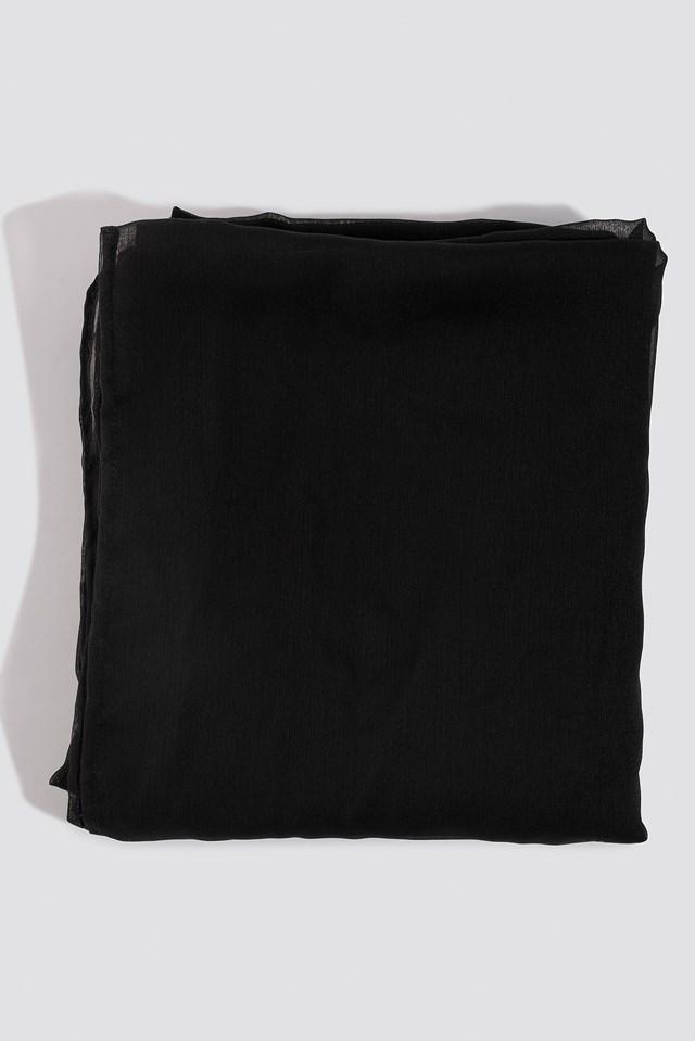 Square Shape Sarong Black