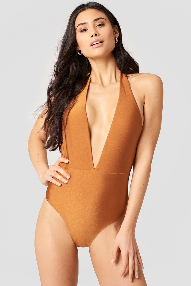 V-neck Swimsuit NA-KD.COM