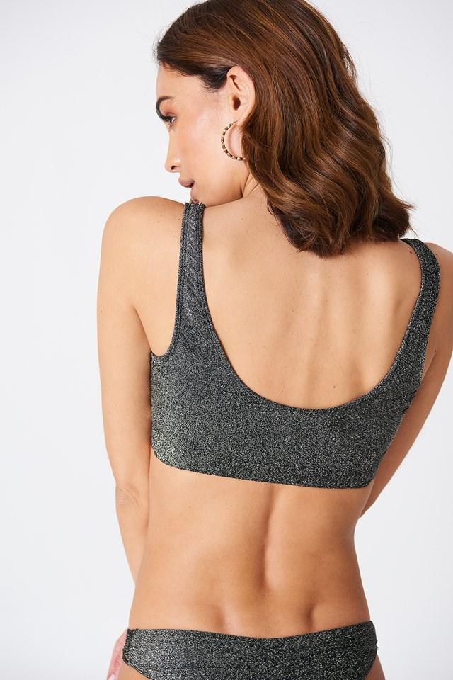 Glittery Bikini Top NA-KD.COM