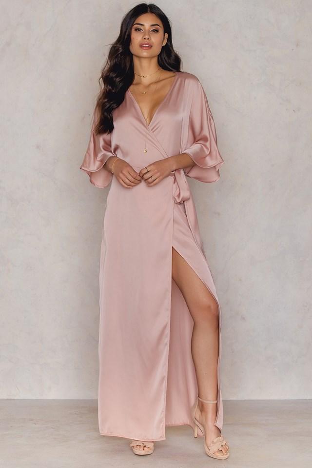 Kimono Mid Sleeve Maxi Dress NA-KD.COM