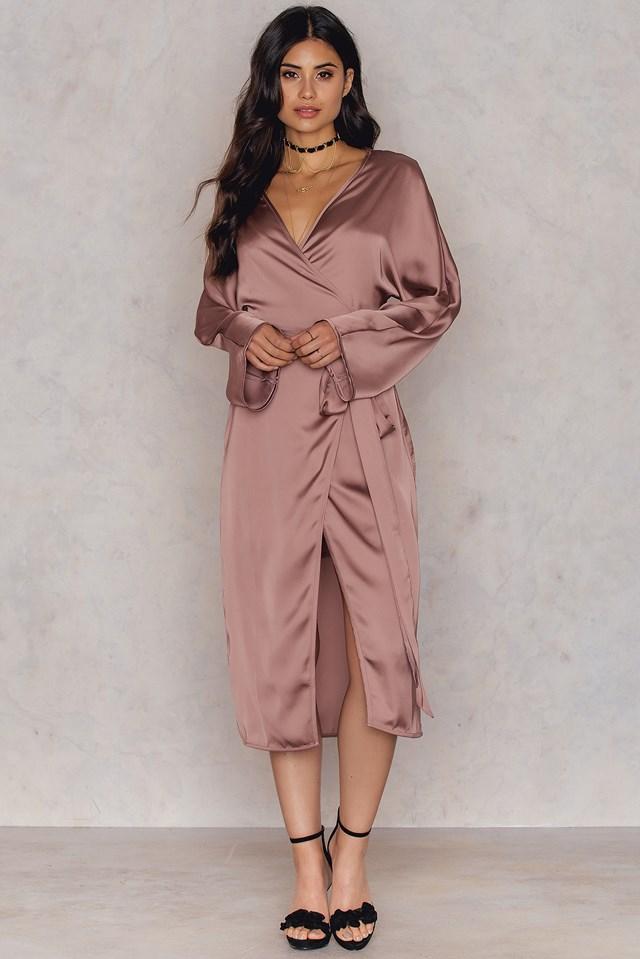 Kimono Wrapped Dress NA-KD.COM