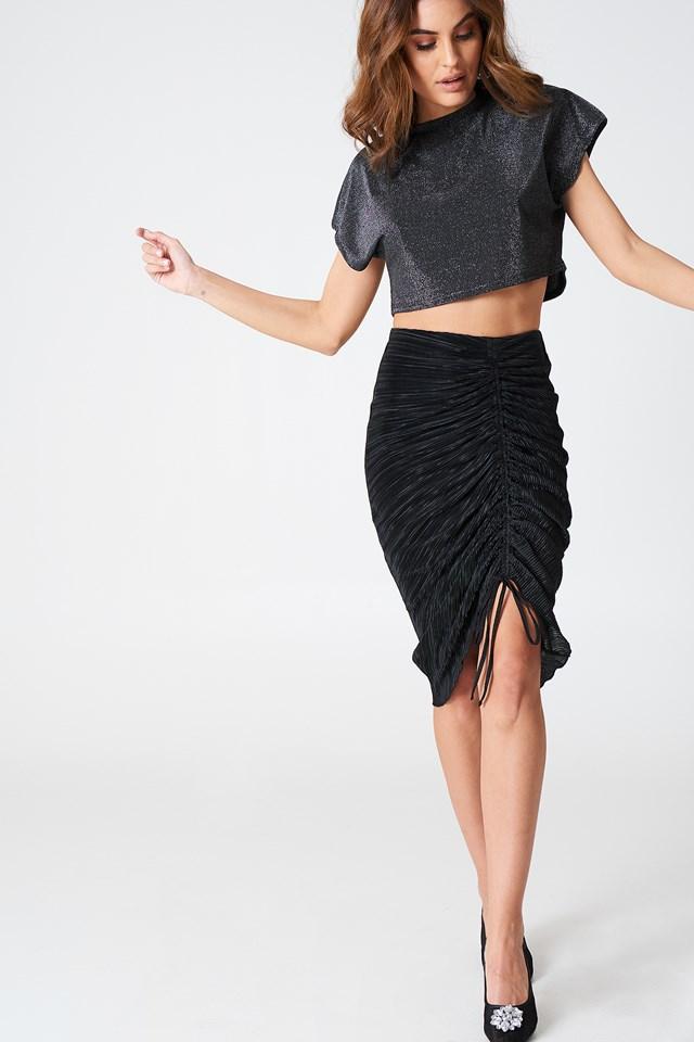 Pleated Drawstring Skirt NA-KD.COM