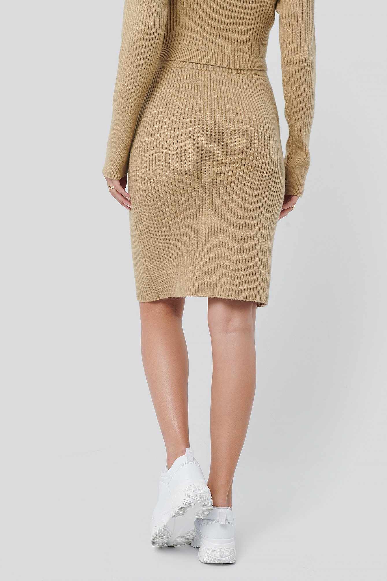 Beige Knitted Skirt