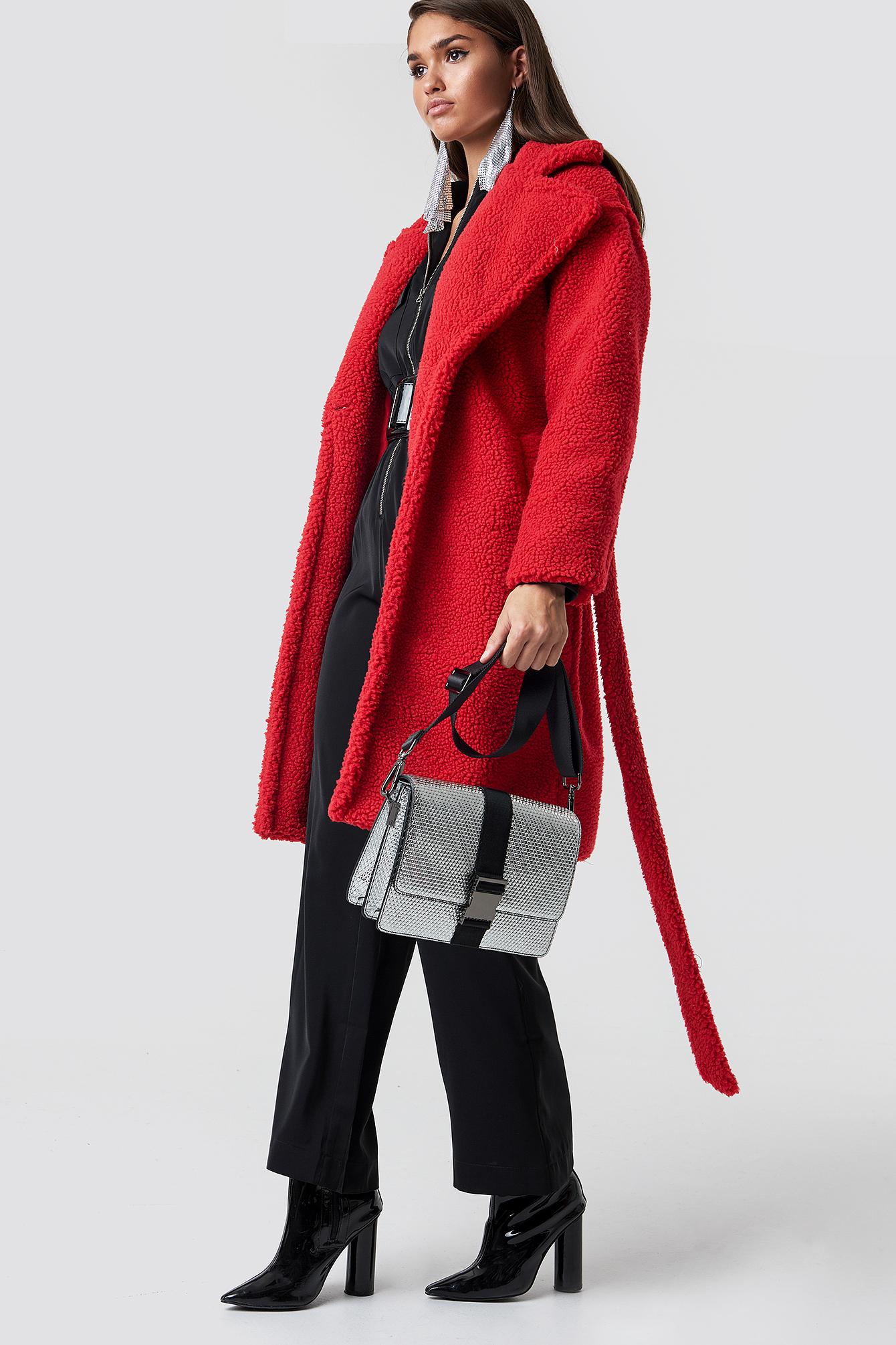 Midi Teddy Coat NA-KD.COM