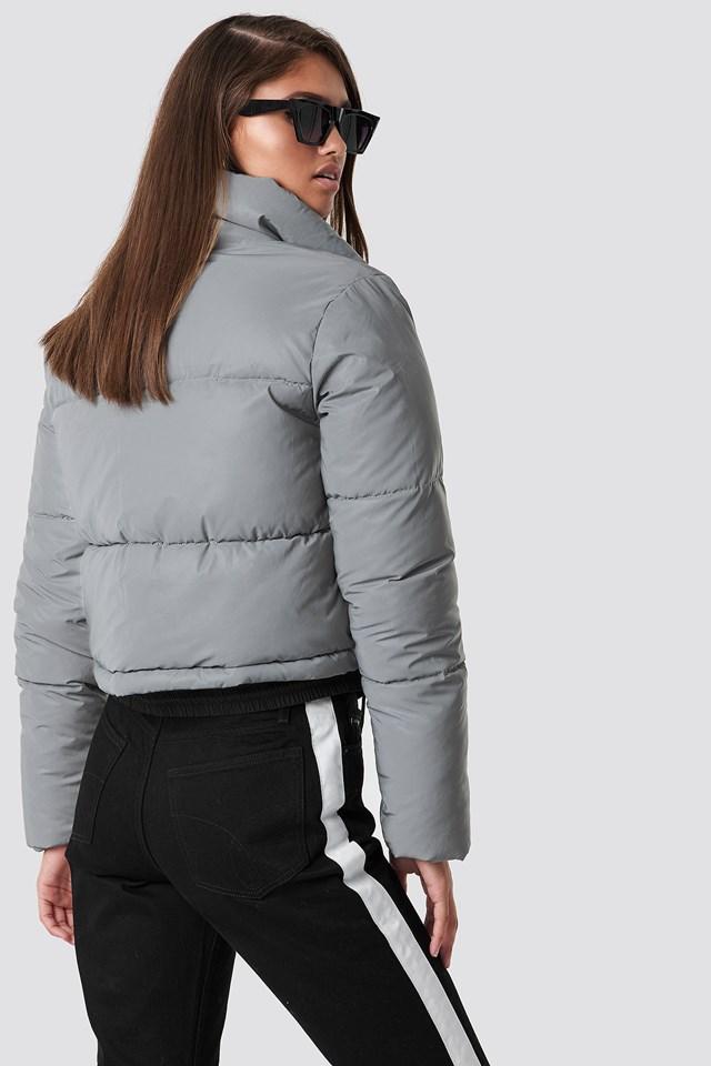 Short Puffy Jacket Reflective