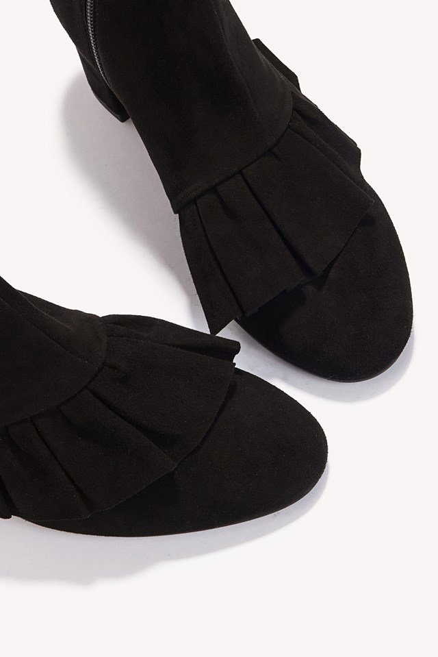 Micha Suede Boots Black