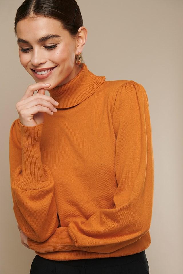 High Neck Puff Sleeve Sweater Nicki x NA-KD