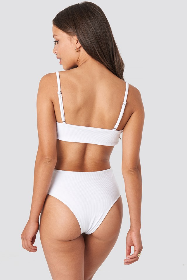Highwaist Bikini Panty White