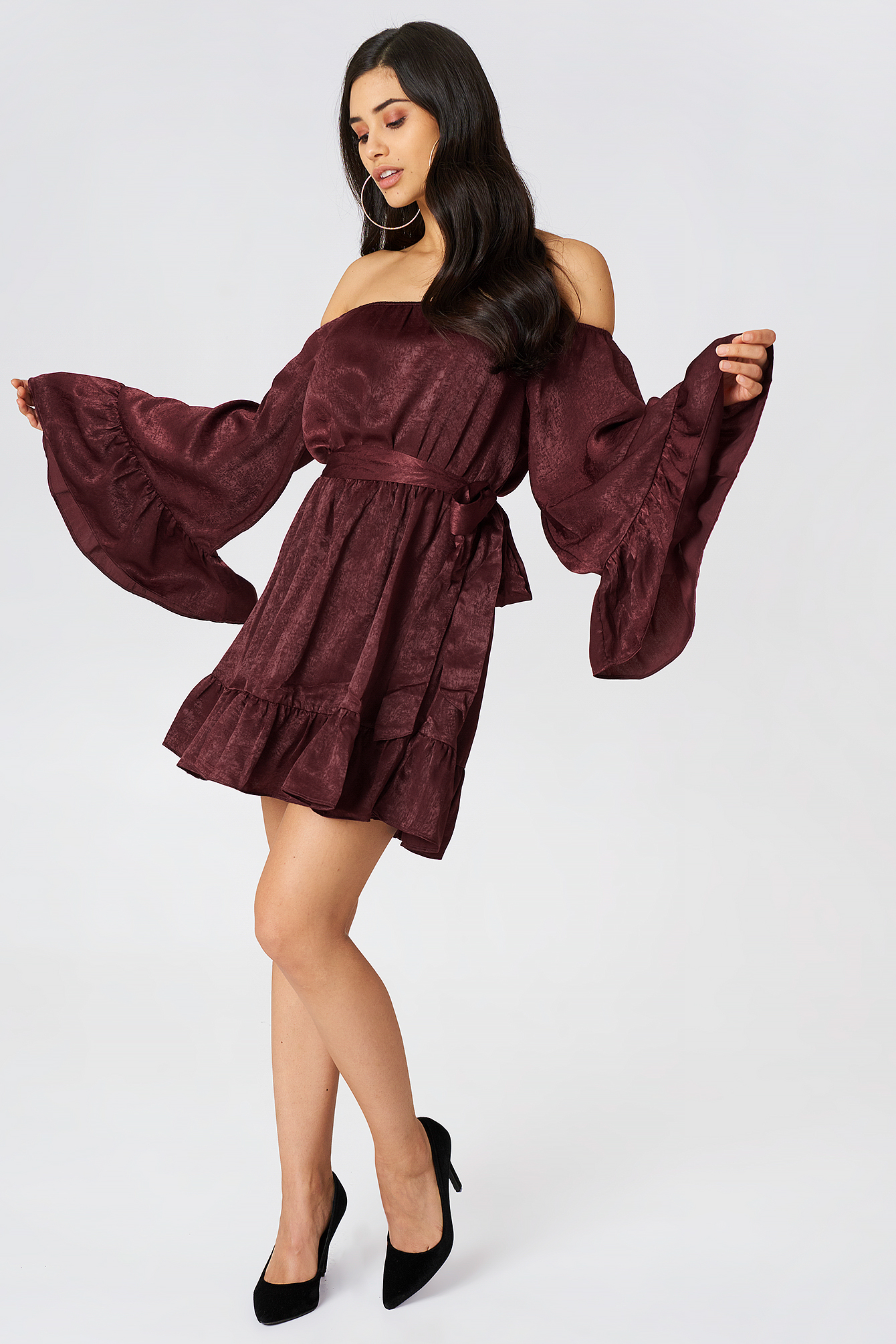 Off Shoulder Mini Dress NA-KD.COM