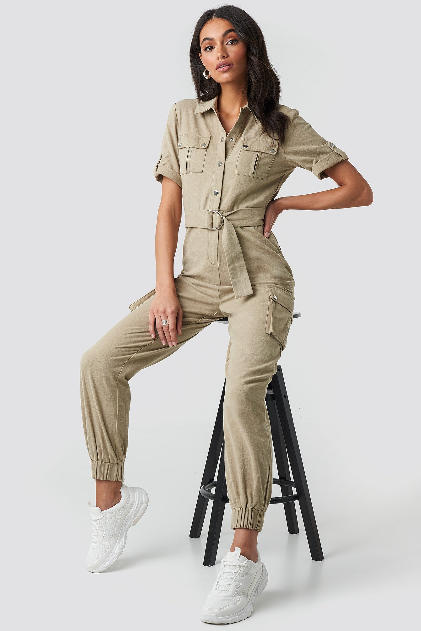 9b5a727ceb Belted Cargo Jumpsuit