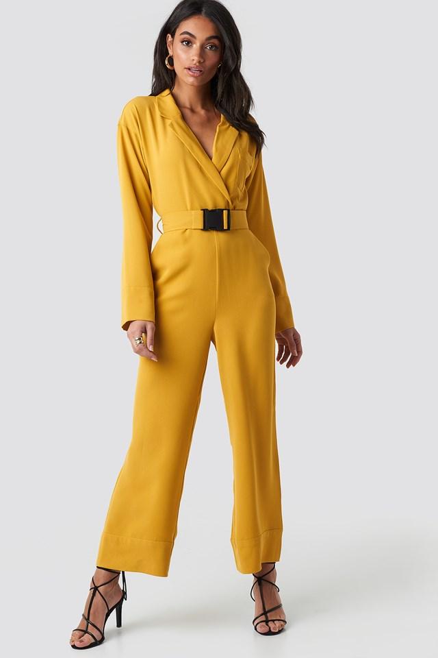 Belted Wrap Front Jumpsuit NA-KD.COM