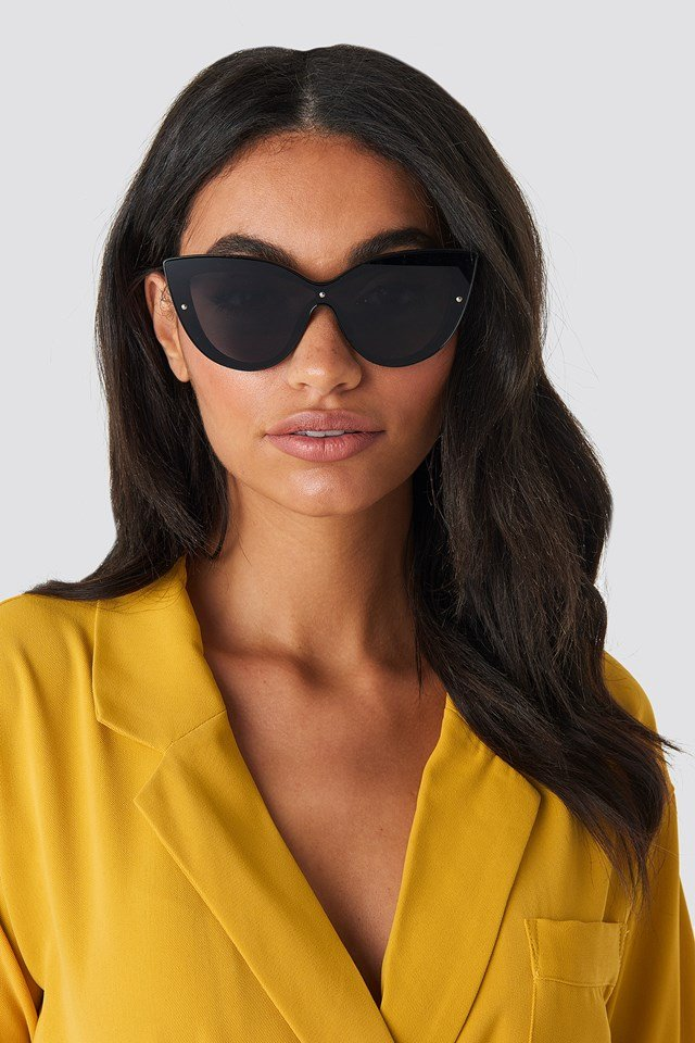 Cat Eye Sunglasses Black