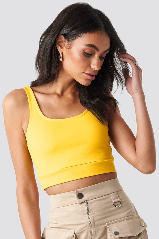 Crop Singlet Yellow