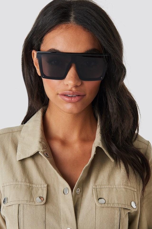 Oversize Frame Sunglasses Black