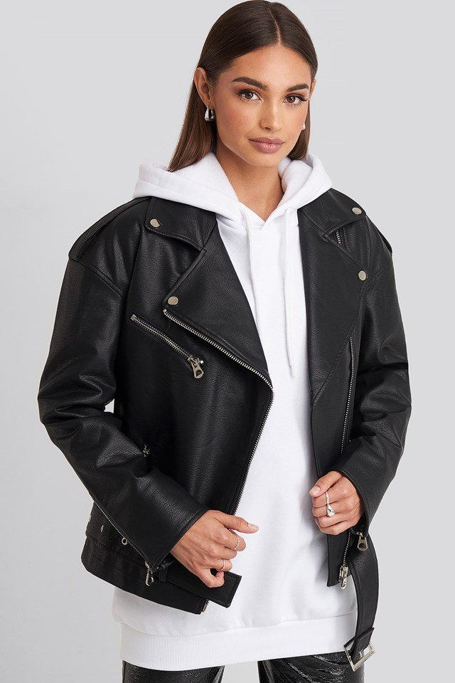 Oversize Pu Jacket Black