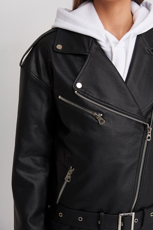 Oversize Pu Jacket Black
