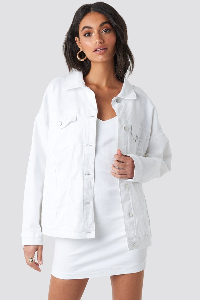 Oversized Denim Jacket White
