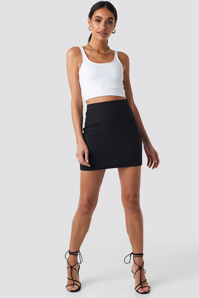 Tailored Mini Skirt Black