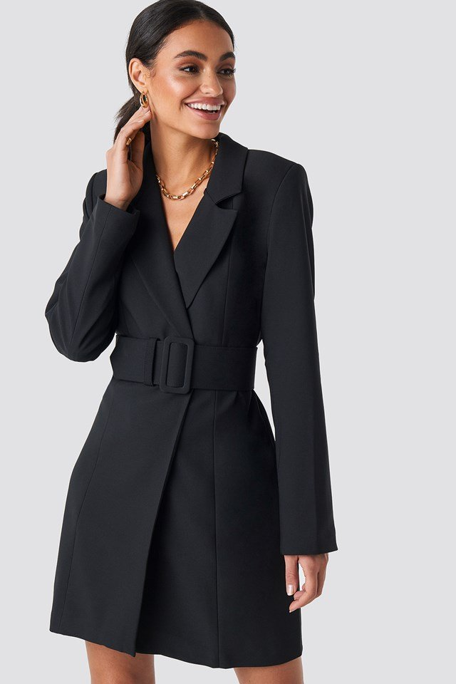Wide Belted Blazer Dress Hoss x NA-KD