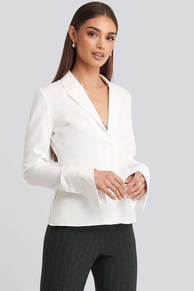 Wide Cuff Shirt White