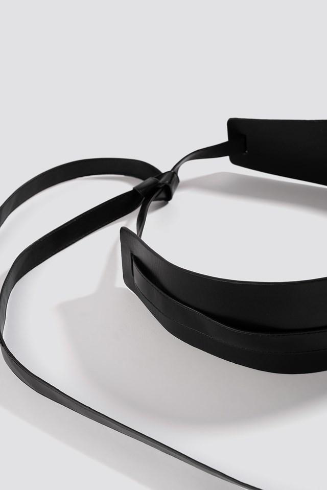 Wide Waist Belt Black