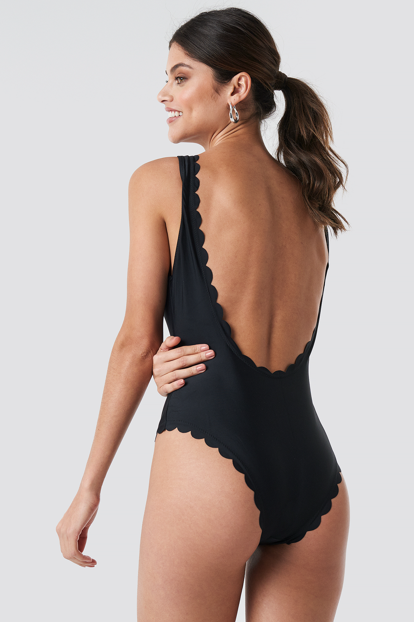 Front Lace Up Swimsuit NA-KD.COM