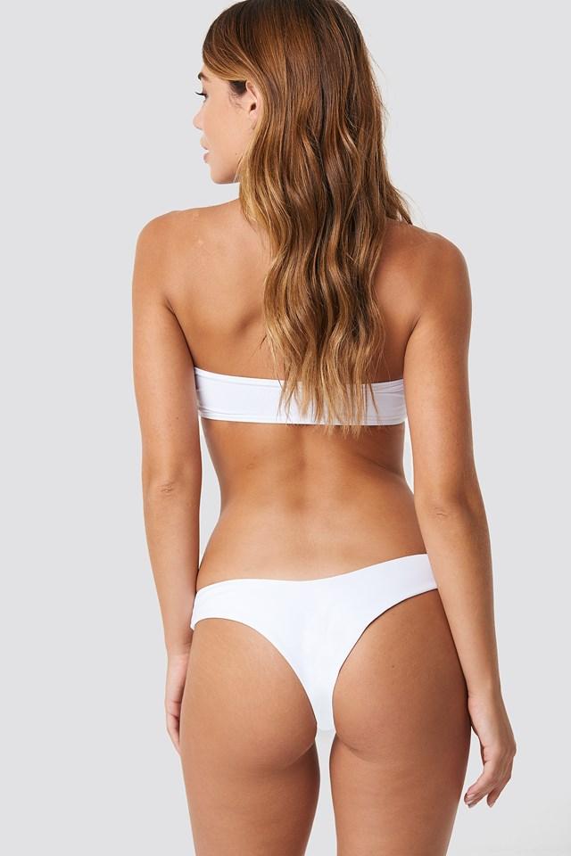 Knot Minimal Bikini Top White