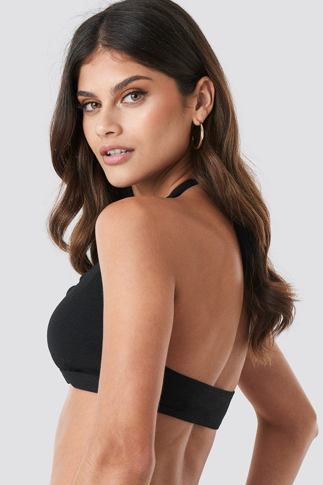 Scalloped Bikini Top Black
