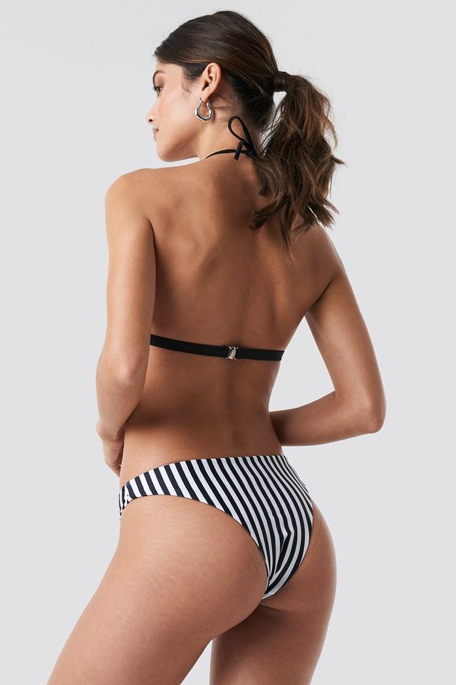 Striped Triangle Bikini Top Multicolor