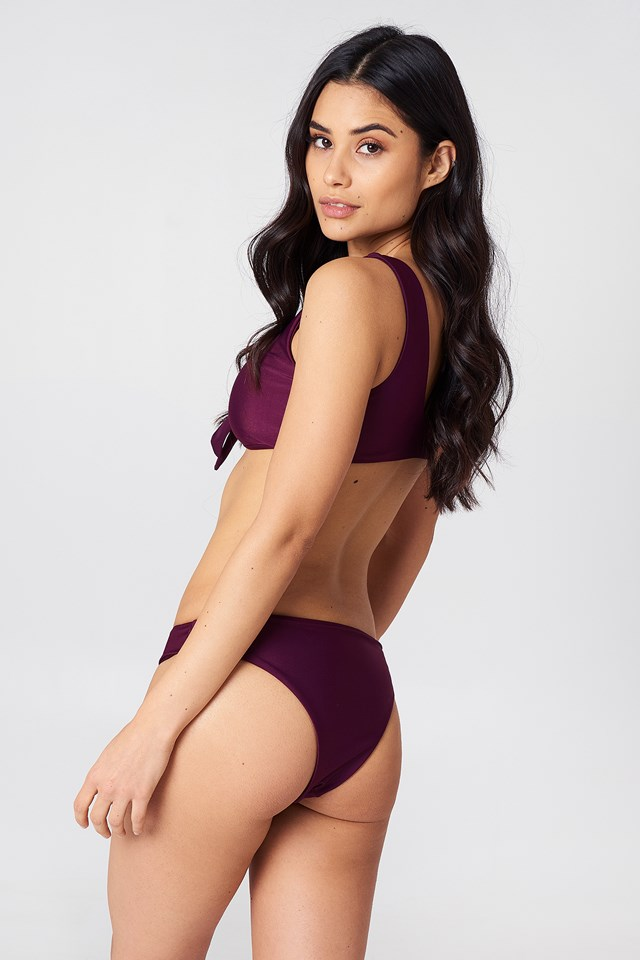 The Bikini Panty Wine Red