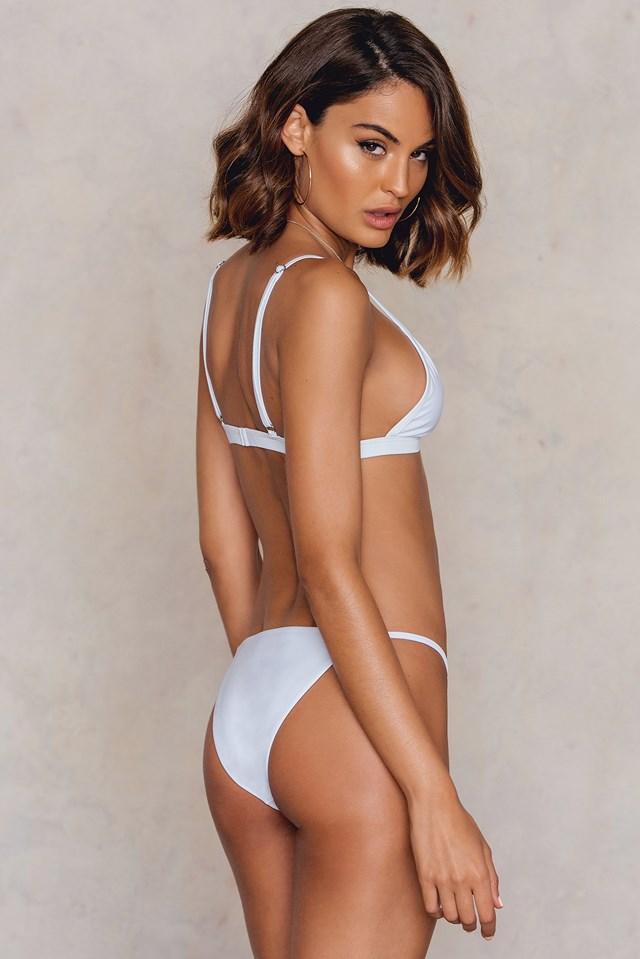 Triangle Bikini Top White