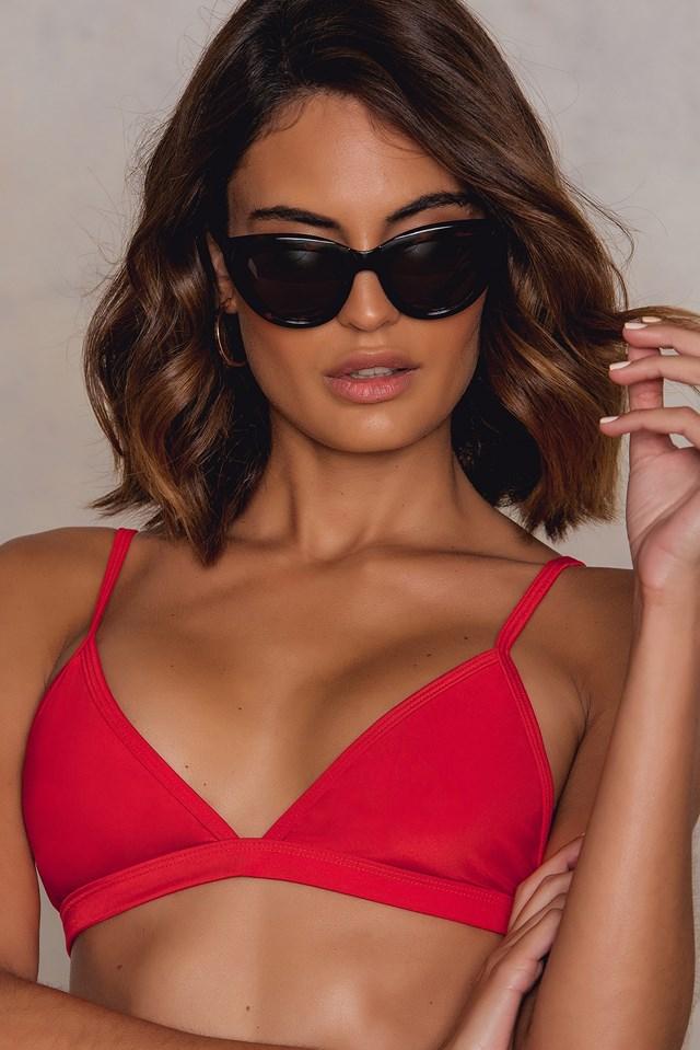 Triangle Bikini Top Red
