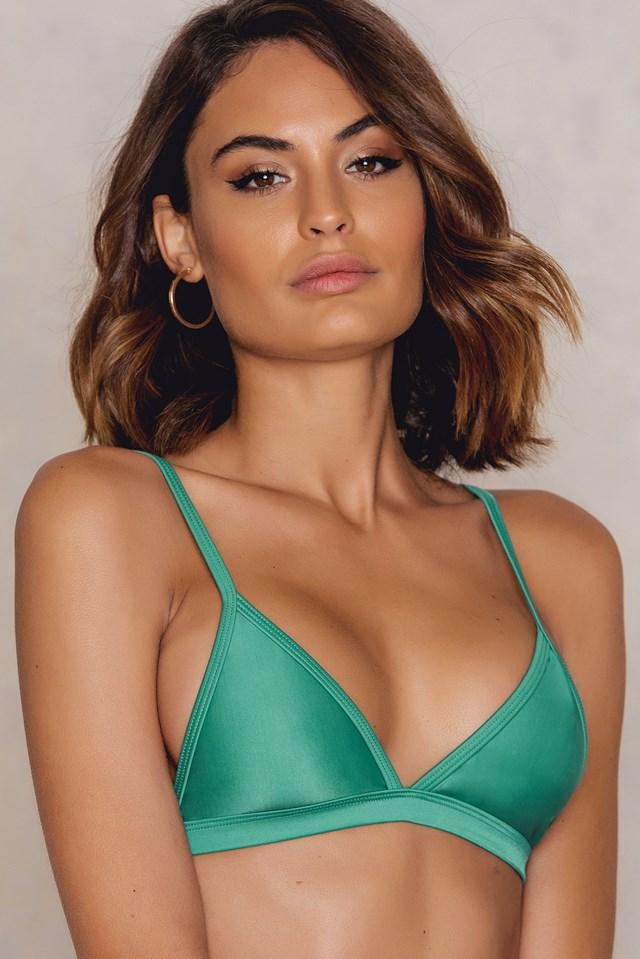 Triangle Bikini Top Green