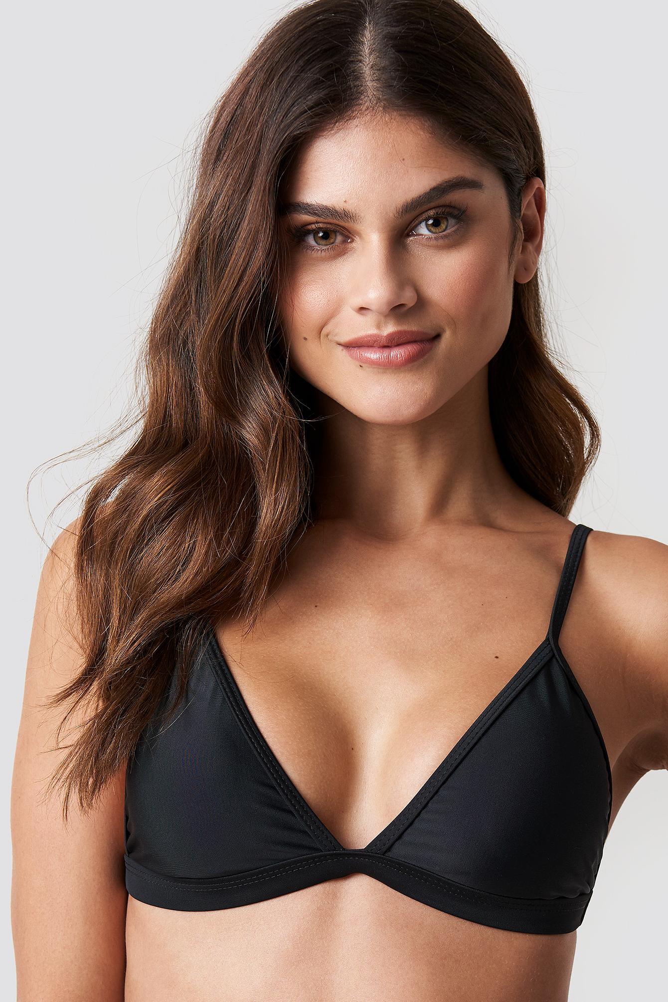 HOT ANATOMY Triangle Bikini Top - Black