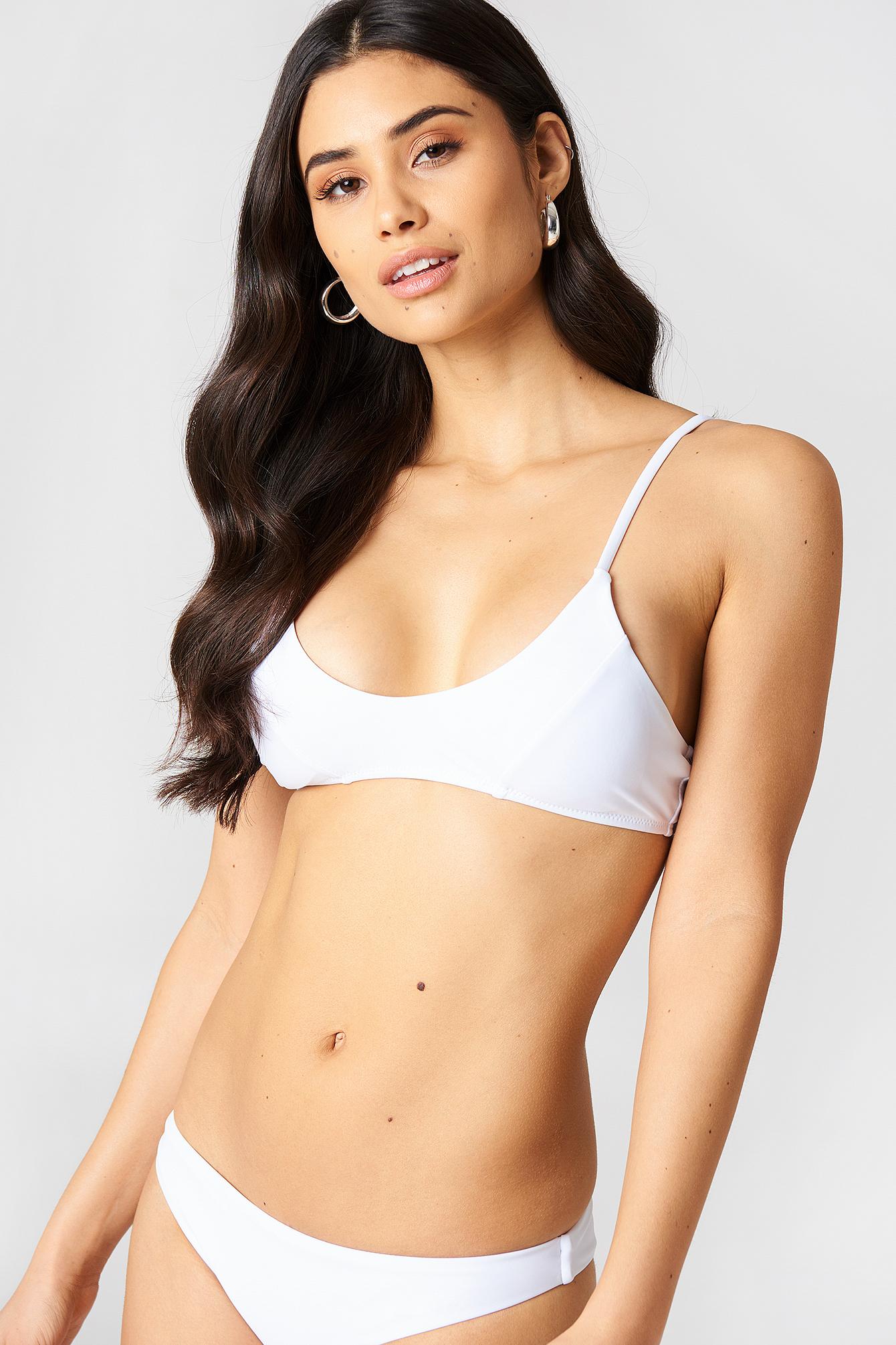 c2b9998af3c U-front Bikini Top White