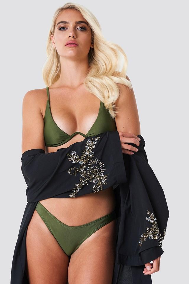Góra bikini bez fiszbin Green