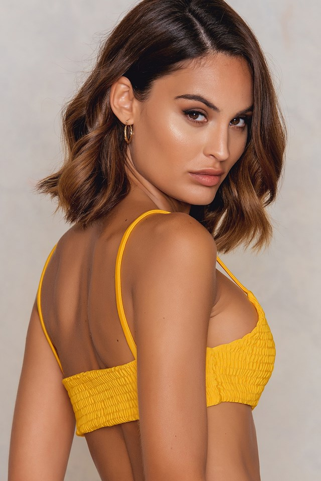 Wrinkled Bikini Panty Yellow