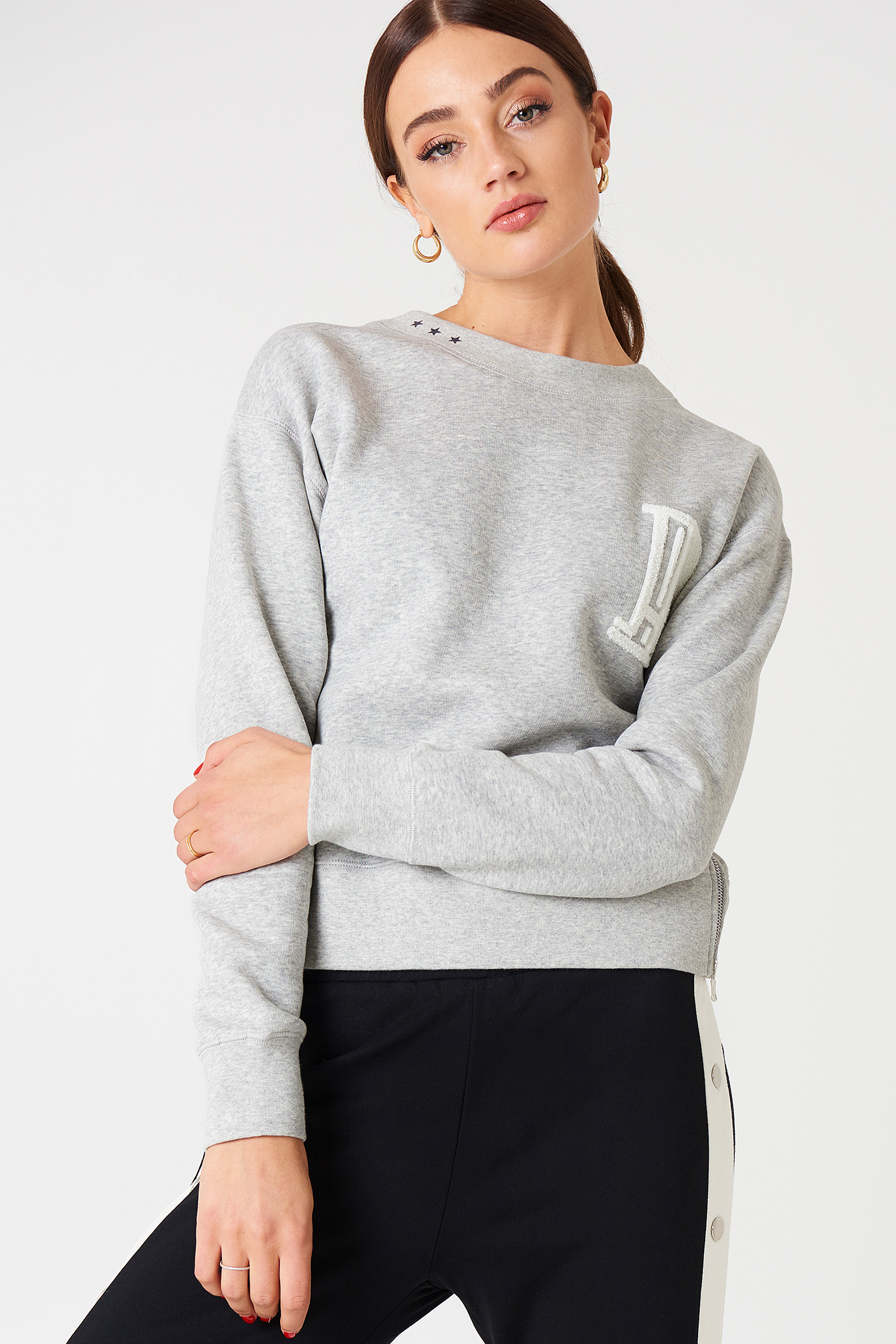 Hunkydory HD ZIP CREW SWEAT - GREY