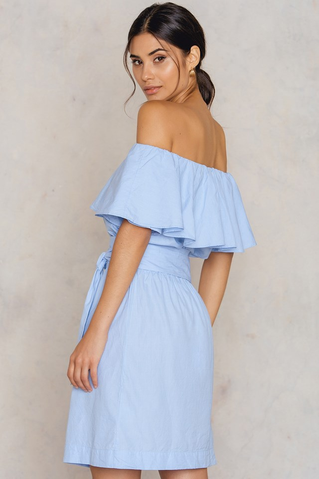 Myra Dress Soft Blue