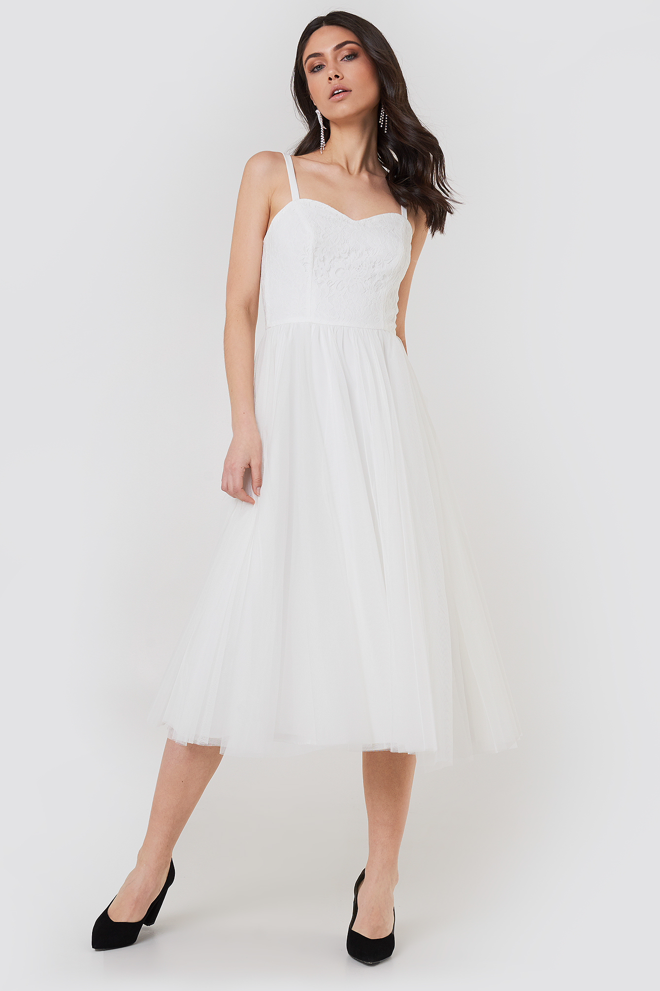 AMANDA DRESS - WHITE, OFFWHITE
