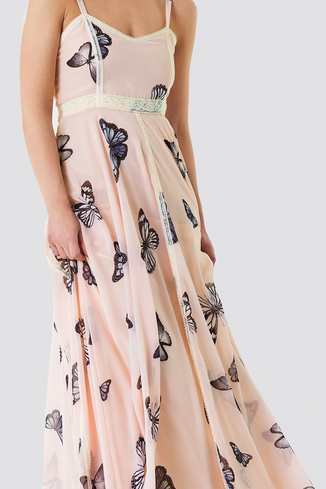 Sukienka Calista Soft Pink Butterly