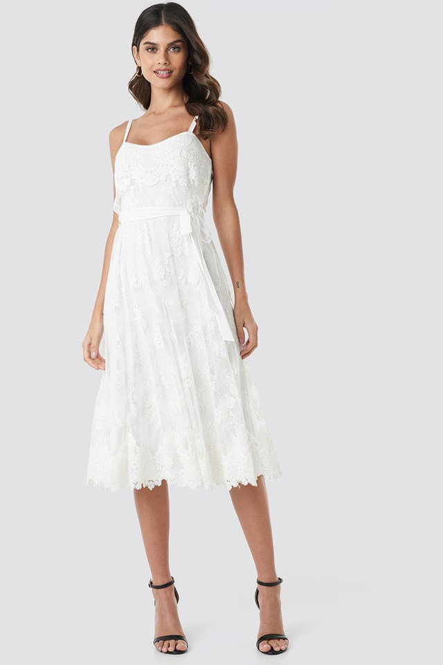 Melodie Midi Dress Ivory
