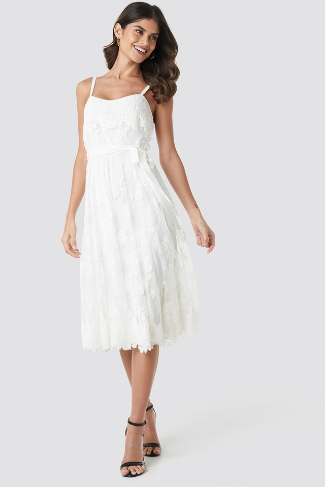Melodie Midi Dress Ivory