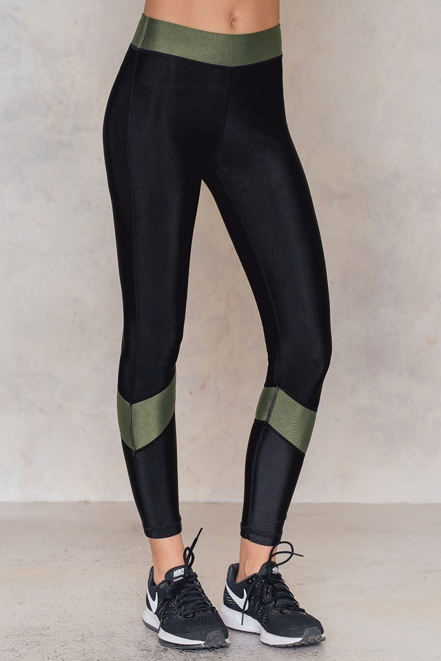 Detail Back Sports Tights Black