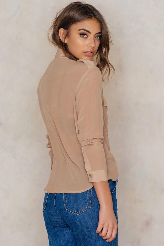 Double Pocket Blouse Nude