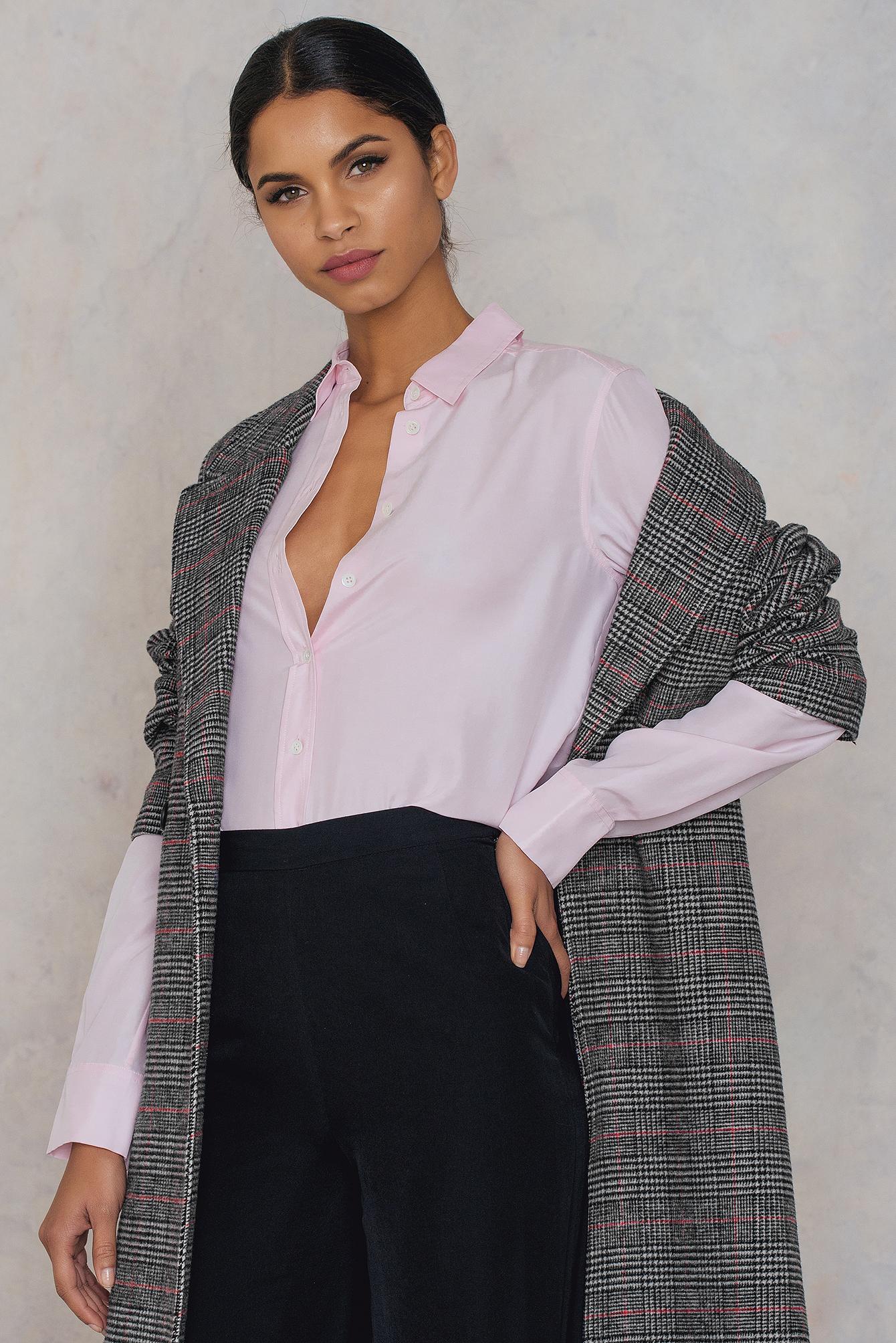 Filippa K Washed Silk Shirt Pink