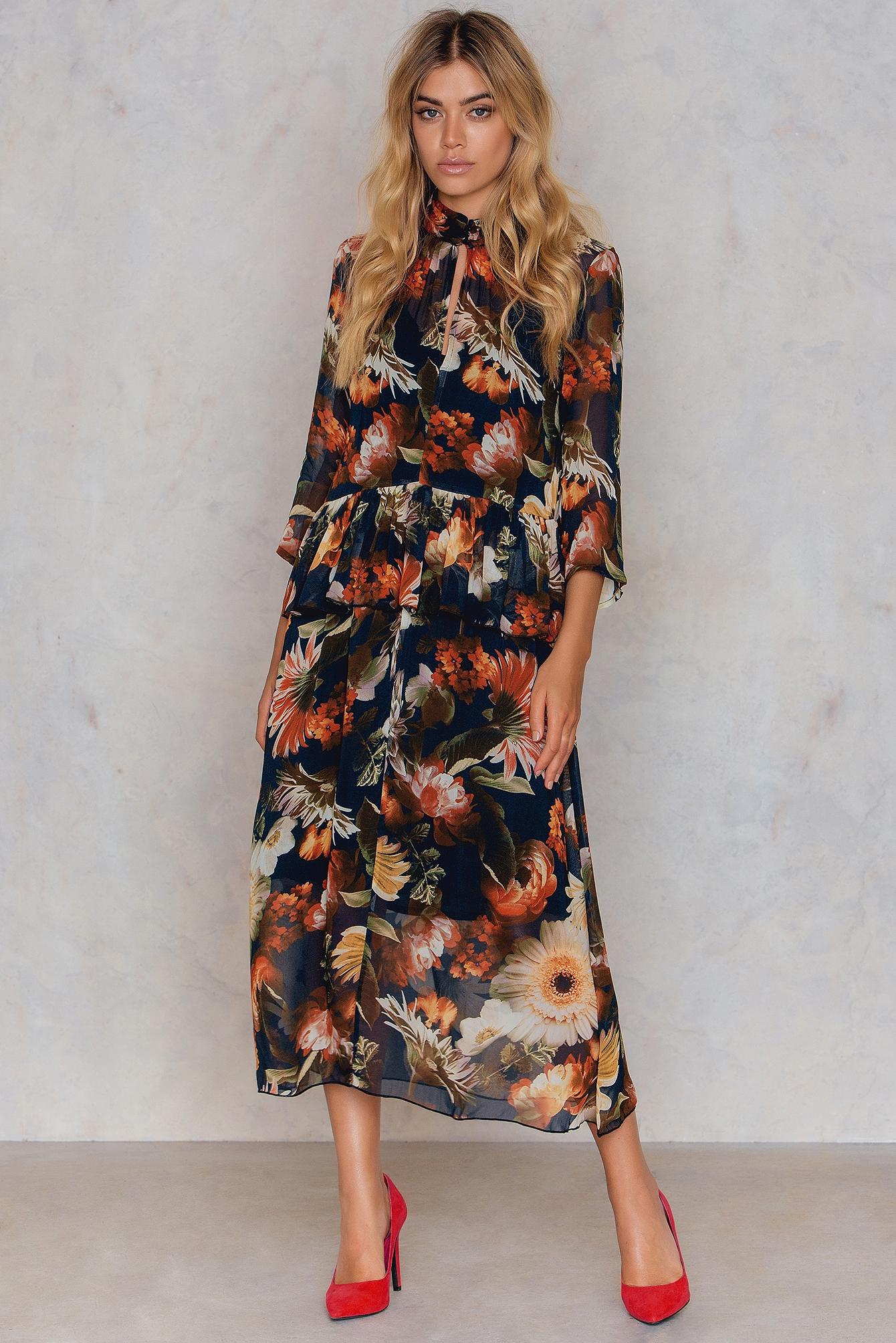 Gestuz Fergie Long Dress Black, Multicolor
