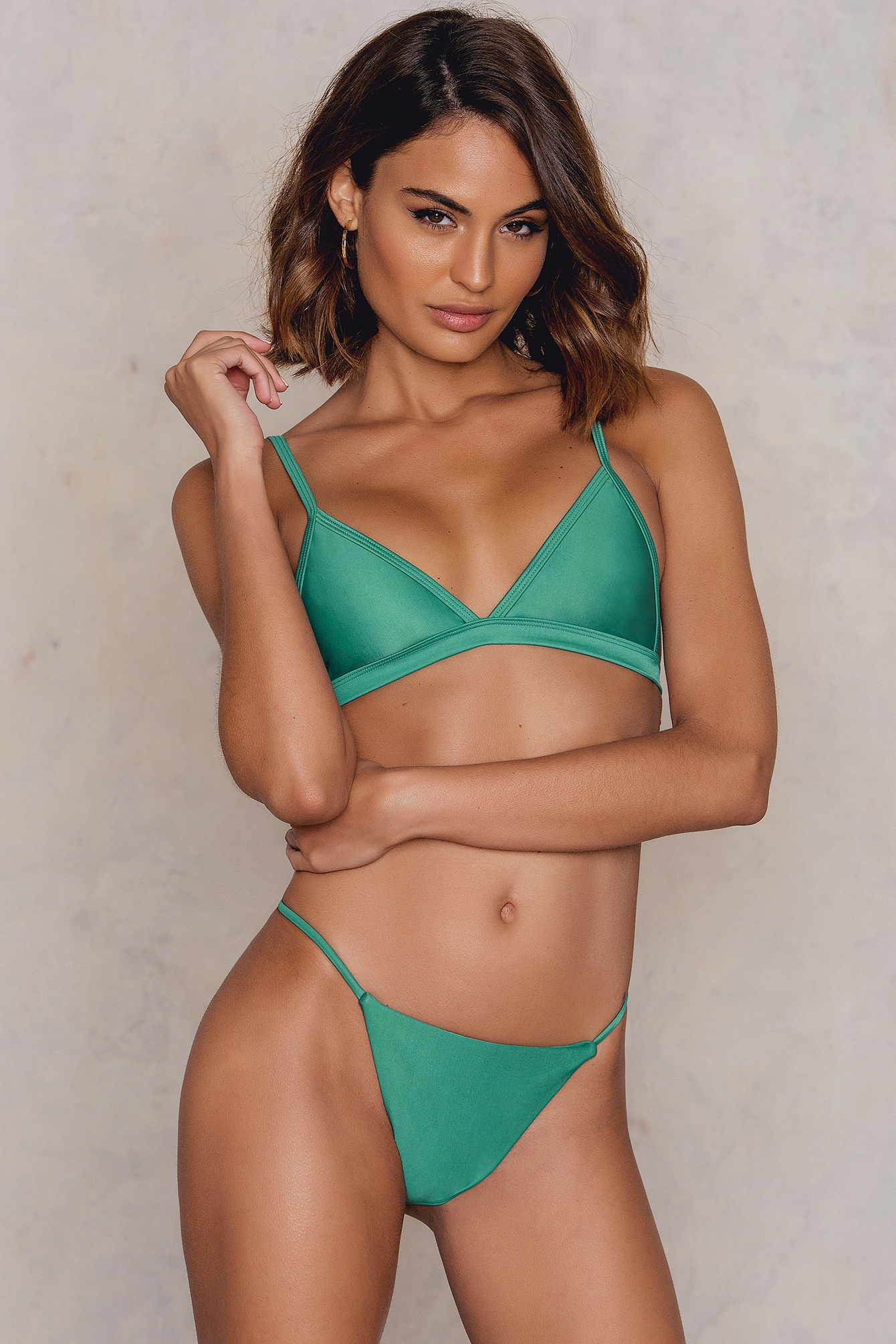 Hot Anatomy Brazilian Bikini Panty Green